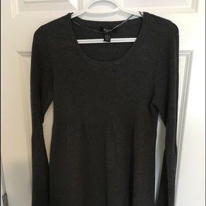 Black/dark gray knit dress size L